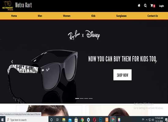 ecommerce website netrakart